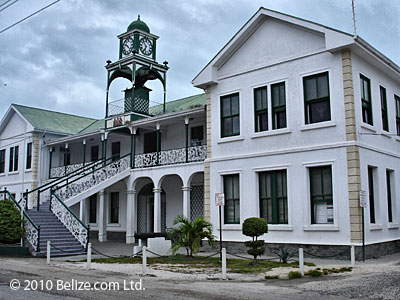 Supreme Court Building downtown Belize City