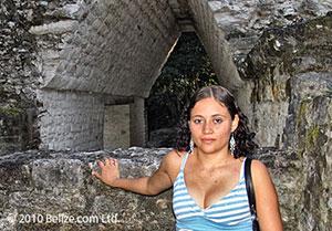 Underground Maya Ruin at Cahal Pech in western Belize