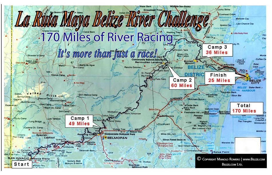 La Ruta Maya Canoe Race Top Endurance Race In Central America – Belize Travel Map