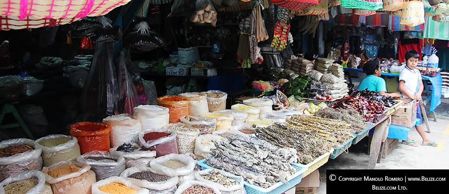 Spice market in El Peten, Guatemala