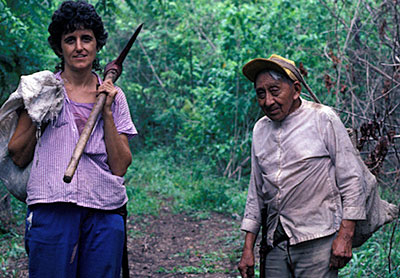 rosita arvigo and mayan healer elijio panti in Belize at ixchel farm