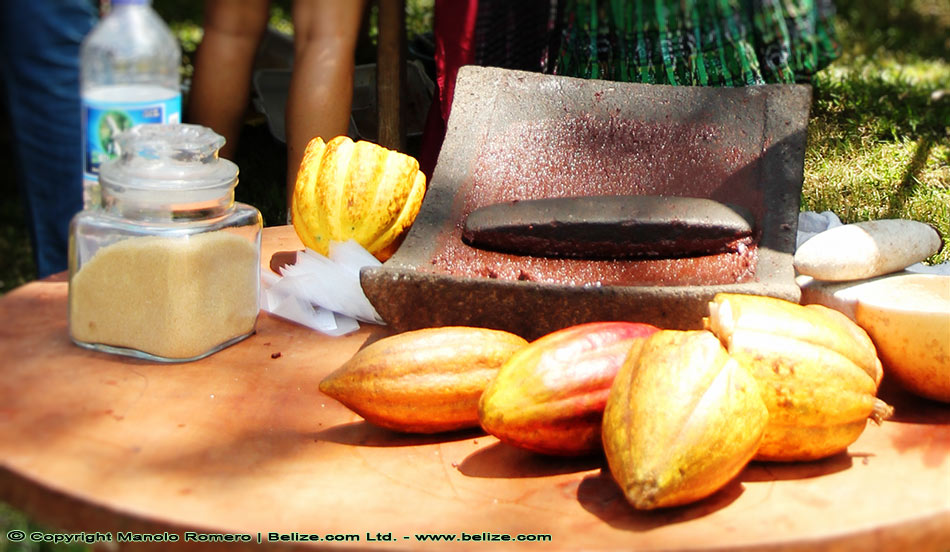 Making traditional Maya chocolate in the Belize rainforest